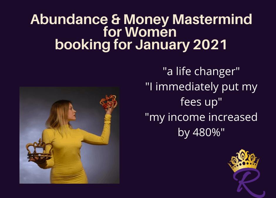 Abundance and Money Mastermind Launches 6 January 2021!